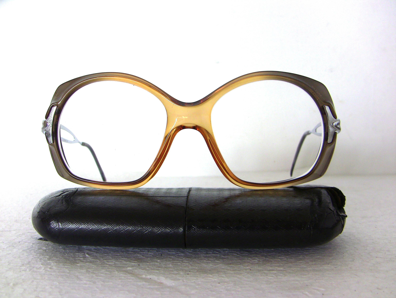 6561cad34676 Viennaline Vintage Eye Glasses Cola Brown Silver Round 80's Eyewear  Eyeglasses Great Condition FREE SHIPPING Her