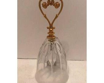 Studio Nova Crystal Bell with Gold Heart Handle