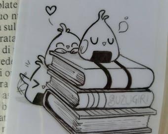 Suzugiri bookmark : original ooak cute bird illustration