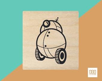 Rolling Robot - 3cm Rubber Stamp (DODRS0066)