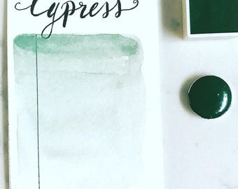Cypress, green, handmade watercolor, watercolor, handmade  paint, organic watercolor