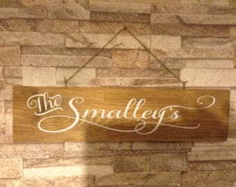 Personalised wood wall plaque