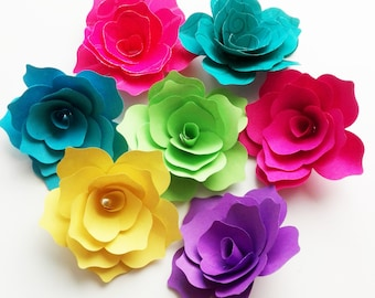 30 paper rose handmade paper roses wedding decoration treats ornaments 3D flowers