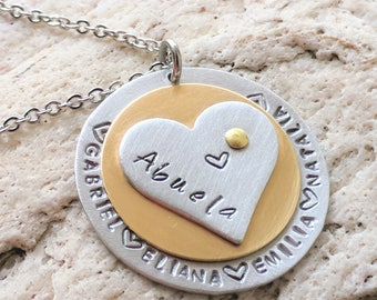Abuela gift, Abuela jewelry, Abuela necklace, Gift for Abuela, Gift for Abuelita, Grandma jewelry, Grandma necklace, Free Shipping