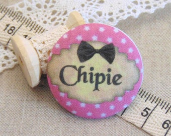 1 cabochon 28mm x fabric snips ref A13