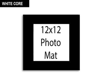 Multiple Colors - Any Opening Size - 12x12 Photo Mat (WHITE CORE)