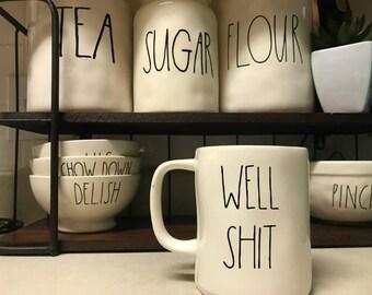 Rae Dunn Inspired Funny Mug Decal, Rae Dunn Inspired Decal, Mug Decal, Funny Mugs