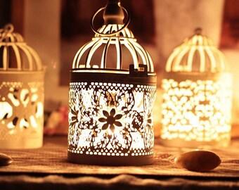 Vintage Candlesticks Home Decoration Moroccan Lantern Votive Candle Holder
