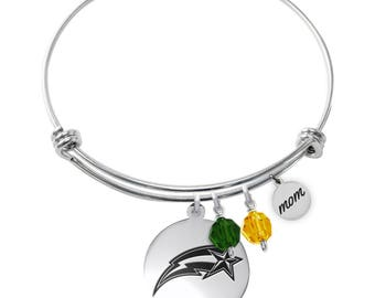 George Mason University Patriots Bracelet | Graduation Bracelet | MOM Bracelet | Stainless Steel Adjustable Bangle | Officially Licensed