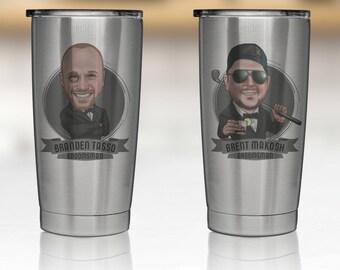 Groomsmen Travel Mug, Similar to Yeti Rambler, Personalized Groomsmen Gift, Custom Rambler, Groomsman Tumbler, Groomsman Gift