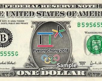 PyeongChang 2018 Olympic Winter Games on REAL Money Collectible Memorabilia Cash Dollar