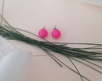 Pink Stud Earrings - Small Pink Earrings - Stud Earrings - Dainty Earrings - Colorful Earrings - Minimal Earrings - 90s Earrings - Fun