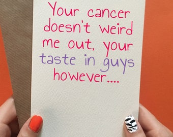 Cancer card / funny cancer card / thinking of you card / tough times / get well soon card