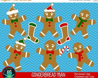 75% OFF SALE Gingerbread Man Clipart, Commercial Use, Gingerbread Men, Digital Clipart, Digital Images - UZ602