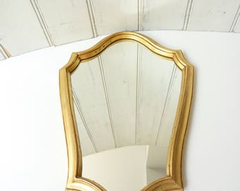 RESERVED FOR DANU Vintage French wall mirror. Gilt frame.