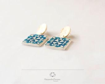 Ceramic-Sicilian jewel earrings Monreale/Ceramic sicilian earrings