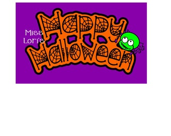 Happy Halloween  Spider web spiders wood sign  Halloween SVG DFX Cut file  Cricut explore file