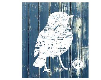 Bird distressed SVG DFX Cut file  Cricut explore file t-shirt decal wood signsscrapbook vinyl decal wood sign t shirt cricut cameo