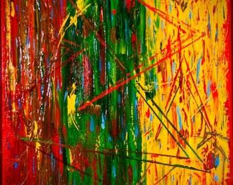 Original Abstract Art, Original Modern Art, Modern Painting, Abstract Painting, Contemporary Art, Texture, Dremmel, Wood