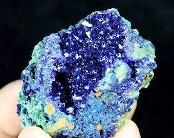 Beautiful Blue Azurite on Green Malachite 682754 from Liufengshan Anhui China