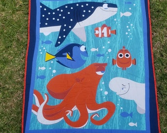 Finding Dory Quilt – Baby Quilt - 100% Cotton Quilt – Panel Quilt – Gender Neutral Quilt – Nursery Decor