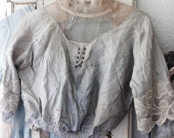 antique, upper part of bodice corset antiques, Brocante ca 1900