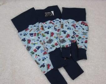 Pants scalable/themed car boy rolling garment boy car blue background