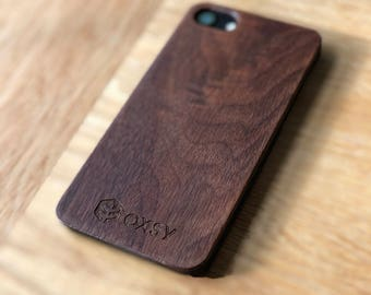 OXSY Wood iPhone & Back Case | Wooden iPhone 8 Back Case | iPhone 8 Walnut Wood Back Case