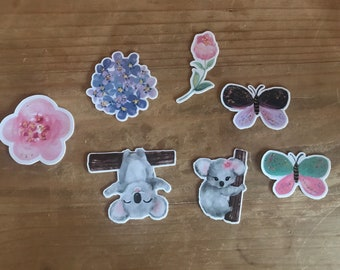 Spring time  die cuts. Use these vibrant die cuts to decorate a planner, travelers notebook, scrapbook or party. Ephemera