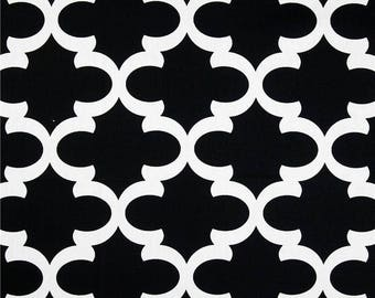 Premier Prints Fabric | Fynn Fabric | Designer Fabric | Quarterfoil Fabric | Upholstery Fabric | Premier black fabric | Fabric by the yard