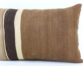 16x24 Decorative Kilim Pillow Floor Pillow 16x24 Handwoven Kilim Pillow Ethnic Pillow Naturel Kilim Pillow Cushion Cover  SP4060-609