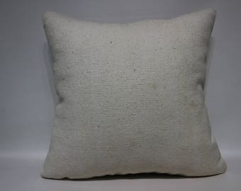 24x24 White Large Kilim Pillow Sofa Pillow Throw Pillow 24x24 Turkish Kilim Pillow Ethnic Pillow Cushion Cover SP6060-1457