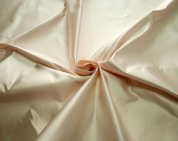 276049-Satin Natural silk 100%, width 135/140 cm, made in Italy, dry cleaning, weight 180 gr