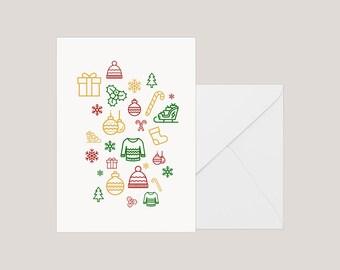 Printable Christmas Card | Greeting Card | Holiday Card | | Xmas Card | A2 Card | Modern Christmas Card | Minimilist Christmas Card