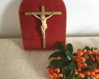 French Vintage Metal Crucifix