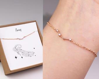 Aries bracelet, Aries zodiac, constellation bracelet, horoscope bracelet, zodiac jewelry, Aries horoscope, birthday gift, horoscope jewelry