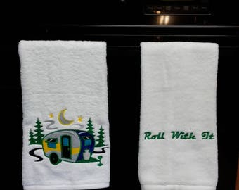 Get Outside! Mini-Camper in the Woods, Roll With It, Hand Towels for the Nature Lover