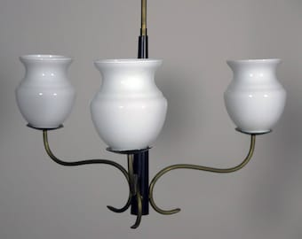 1950's Vintage Italian chandelier in Arredoluce Stilnovo era
