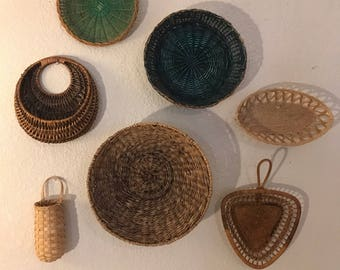 Wall Basket Set. Bohohemian Decor/Wallhangings