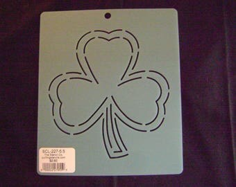 Sashiko Japanese Embroidery orTraditional Quilting Stencil 5.5 in. Shamrock Block Motif Block/Quilting