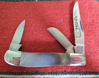 1984 American Blade Collector's Knife - Mother of Pearl Folding Pocket Knife