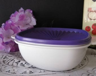 Tupperware Bowl 2511  with  lid 839-1 Holds 6-1/2 Cups   PreOwned Never Used