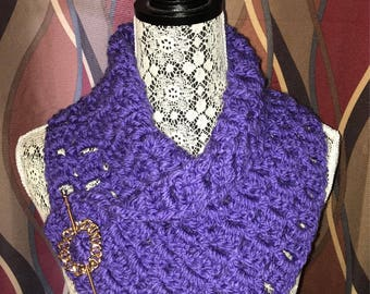 Crochet Cowl - Purple