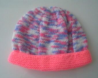 Knit newborn baby Hat / 1 month