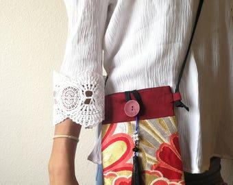 Japanese kimono sling a shoulder bag