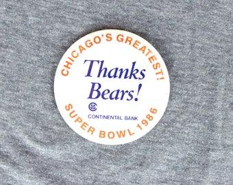 Chicago Bears - Super Bowl Pin - Continental Bank - 1986