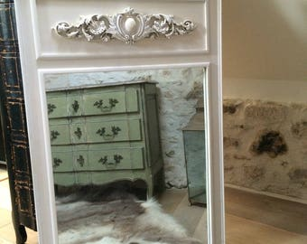 Large molded oak weathered Pier mirror