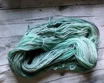 Yarn, DK Yarn, Hand Dyed Yarn, Green Yarn, Grey Yarn, Tonal Yarn Superwash Merino Wool - Seafoam