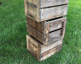 Wooden Fruit Crate Peach Crate Wood Box Wood Crate Orchard Vintage Crate Wooden Crate Farm Crate Harvest