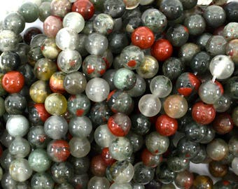 "6mm African blood agate round beads 15"" strand 39134"
